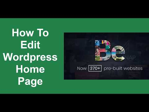 How To Edit WordPress Home Page – BeTheme Tutorial