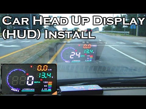 "Car Head Up Display - A8 5.5"" OBDII HUD - Review And Install - GearBest Mp3"