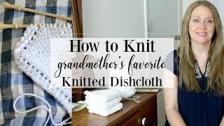 Grandmothers Favorite Dishcloth Knitting Pattern Tutorial