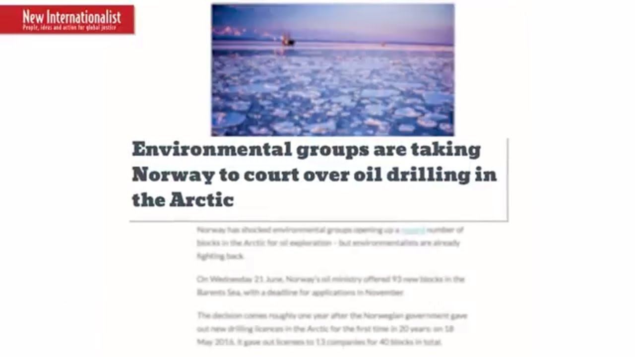 Help Beat Arctic Oil in Court! thumbnail