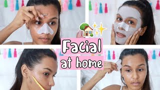 My At Home Facial Routine / DIY Step By Step Facial