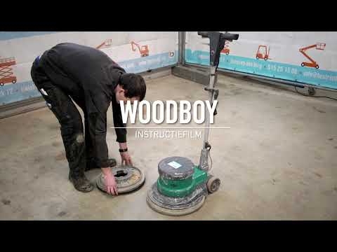 Woodboy parketschuurmachine