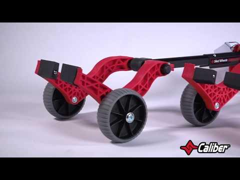 Caliber Ski Wheels, Gray - Image 1 of 2 - Product Video