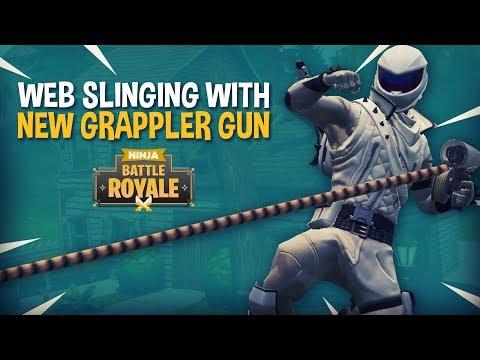 Web Slinging With New Grappler Gun!! - Fortnite Battle Royale Gameplay - Ninja & Nickmercs