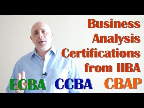 Guide to IIBA Business Analysis Certifications CBAP CCBA ECBA ...