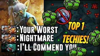 TOP 1 Techies - Your Worst Nightmare - Dota 2 Highlights TV