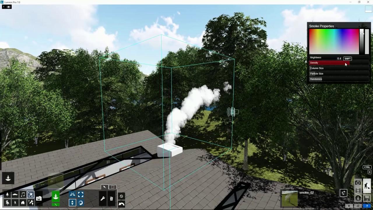 編集モード:煙を追加(Lumion7 series)