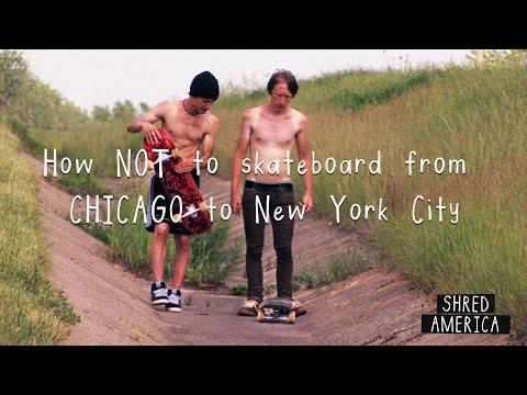 We rode skateboards and bikes from Chicago to NYC in 2008 without a smart phone and made a movie about it that premiered this month.