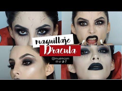 MAQUILLAJE PARA HALLOWEEN DE DRACULA (VAMPIRA) | Muakk.com