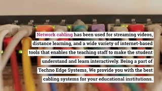 How does Network Cabling Installation help to Education Sectors?