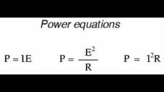 Electric Power Formulae