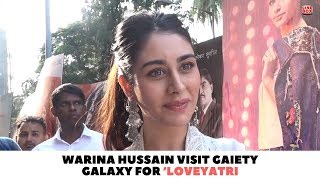 Warina Hussain Visit Gaiety Galaxy For 'Loveyatri'