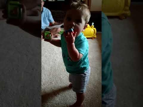 Bradley's first steps!