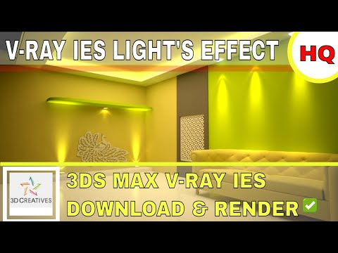 3DS MAX IES LIGHTS FREE DOWNLOAD & IMPORT IN 3DS MAX TUTORIALS