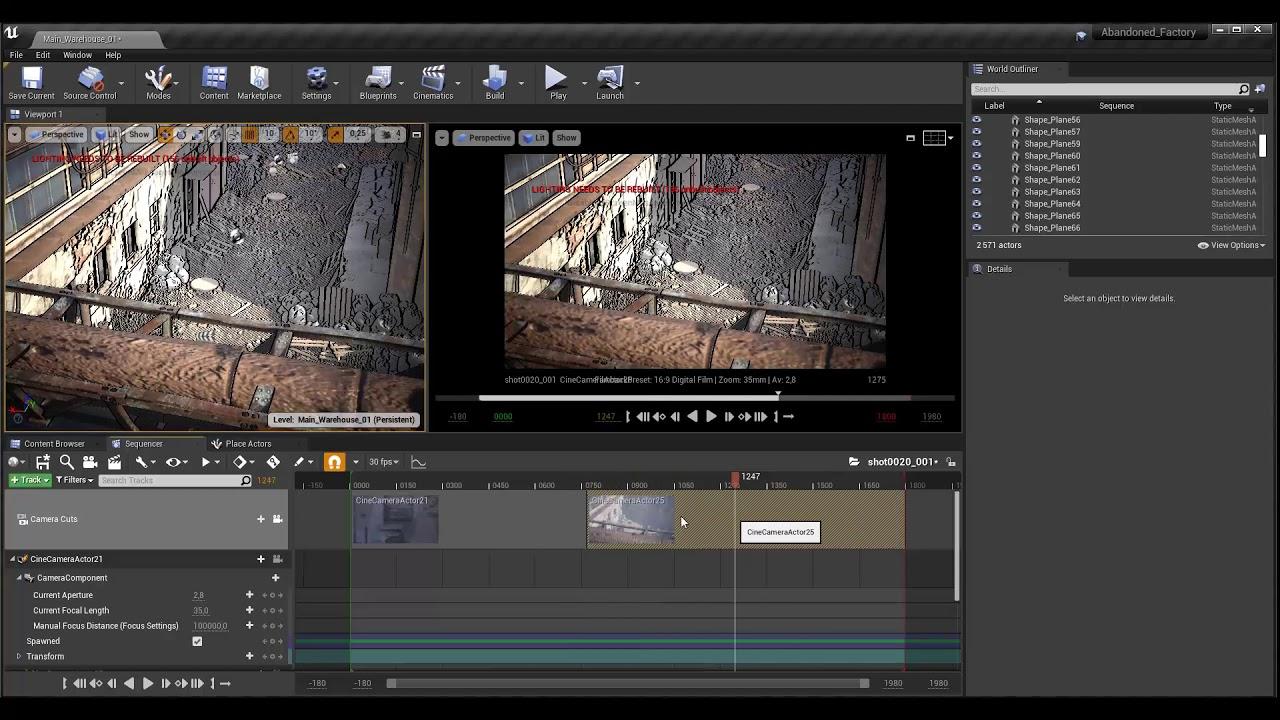 Tuto du Jeudi : réalisez une cinématique avec Unreal Engine