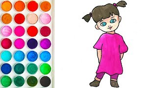 Colorings with Boo Monsters for Kids, Coloring Pages for Baby