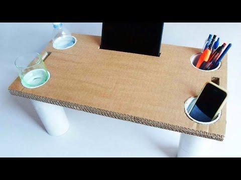 Crea un Tavolino da Letto Multiuso di Cartone - Fai da Te Casa - Guidecentral