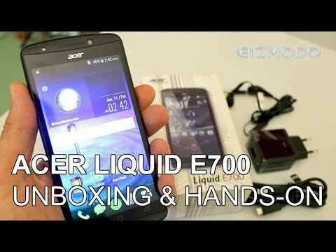 Acer Liquid E700 Unboxing und Hands-On