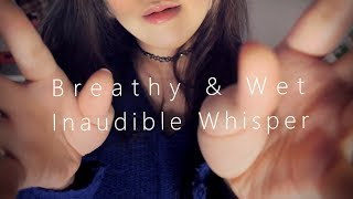 ASMR Moving Real Unintelligible Whispers with Hand Movements