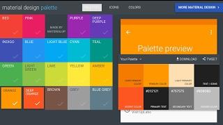Material Design Colors Palette