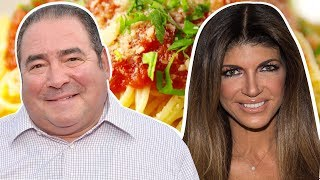 Teresa Giudice Vs. Emeril Lagasse: Whose Marinara Recipe Is The Best? | Celebrity Snackdown | Delish