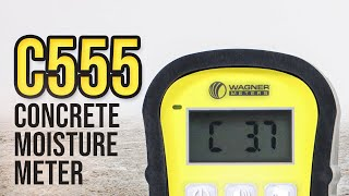 C555 Handheld Concrete Moisture Meter – Learn How To Use