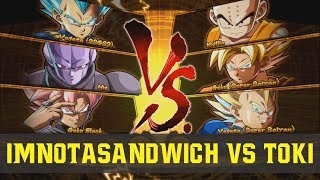 Dragon Ball FighterZ - Imnotasandwich (Vegeta Blue) VS (Krillin) Toki - Ranked FT2