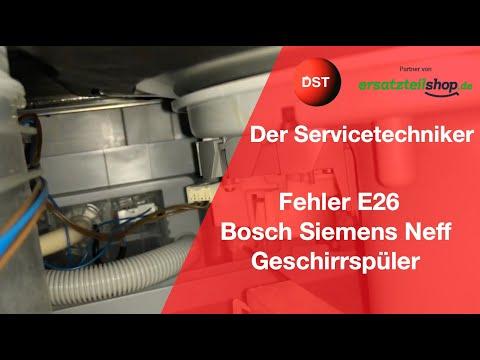 E26 Bosch, Siemens, Neff, Constructa Spülmaschine - kein Signal von der Wasserweiche