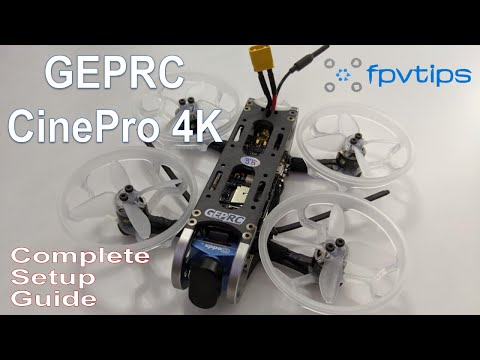 GEPRC CinePro 4K cinewhoop review, setup, flight footage