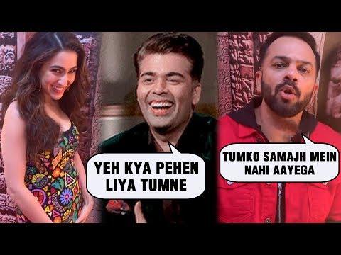 Karan Johar Makes Fun Of Sara Ali Khan And Rohit S