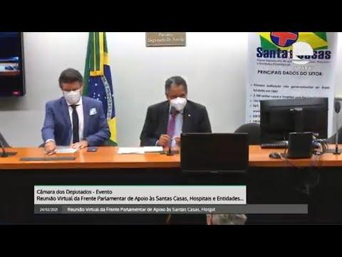 Reunião da Frente Parlamentar de Apoio às Santas Casas - 24/02/21 16:04