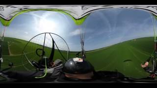 Paramotor Take Off & Landing , Front of the wing exercice _
