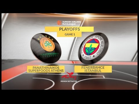 EuroLeague Highlights Playoffs 1: Panathinaikos Superfoods Athens 58-71 Fenerbahce Istanbul
