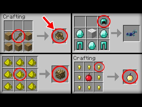 Video ✔ Minecraft: 10 Crafting Recipes That Changed