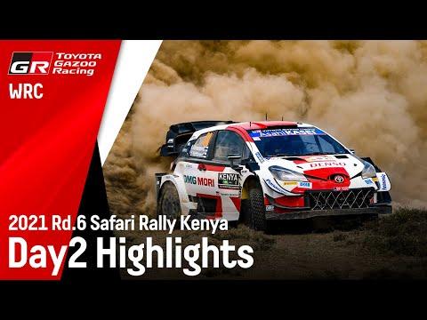 WRC 2021 WRC第6戦ラリー・ケニア ToyotaGazooRacingのDay2ハイライト動画