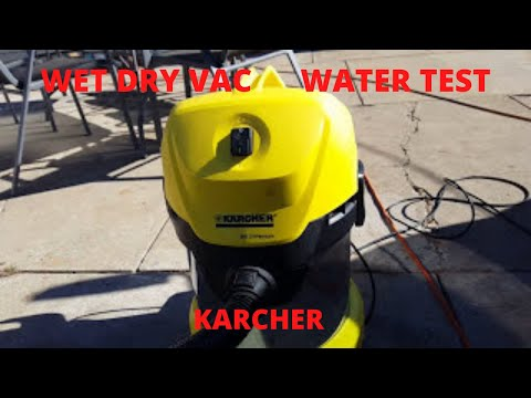 KARCHER MV3 PREMIUM  WET  DRY  VAC water test