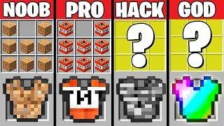 Minecraft Battle: SUPER ARMOR CRAFTING CHALLENGE - NOOB vs PRO vs HACKER vs GOD Minecraft Animation