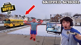 I Skipped School To Play Fortnite Season 7 All Day! *GOT CAUGHT* PARENTS FREAKED OUT!