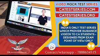 Ca Test Series | Ca final test series | ca ipcc test series | ca inter test