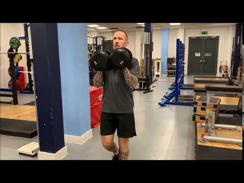 Exercise Demo - Dumbbell Rack Position Carry