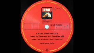 BACH, Sonate Für Violine Solo Nr  3 C Dur BWV 1005 , Szeryng, Violin