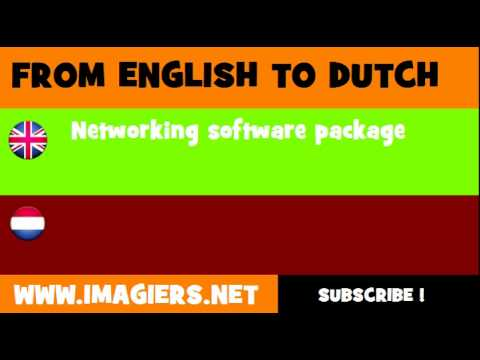 NEDERLANDS = ENGELS = Netwerksoftware