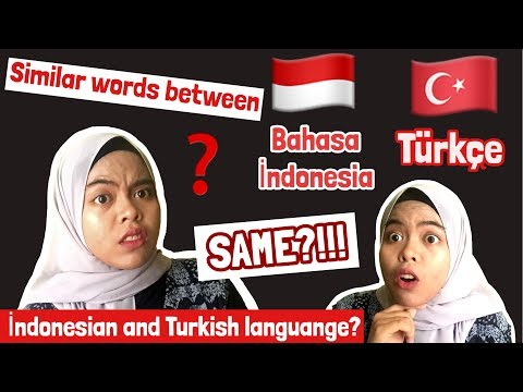 SIMILAR WORDS BETWEEN Türkçe And Bahasa Indonesia ! ( TURKISH And INDONESIAN LANGUAGE )