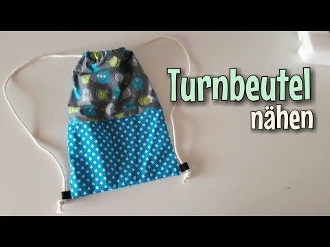 Turnbeutel - Nähanleitung - OHNE Schnittmuster - Anfänger - Nähtinchen
