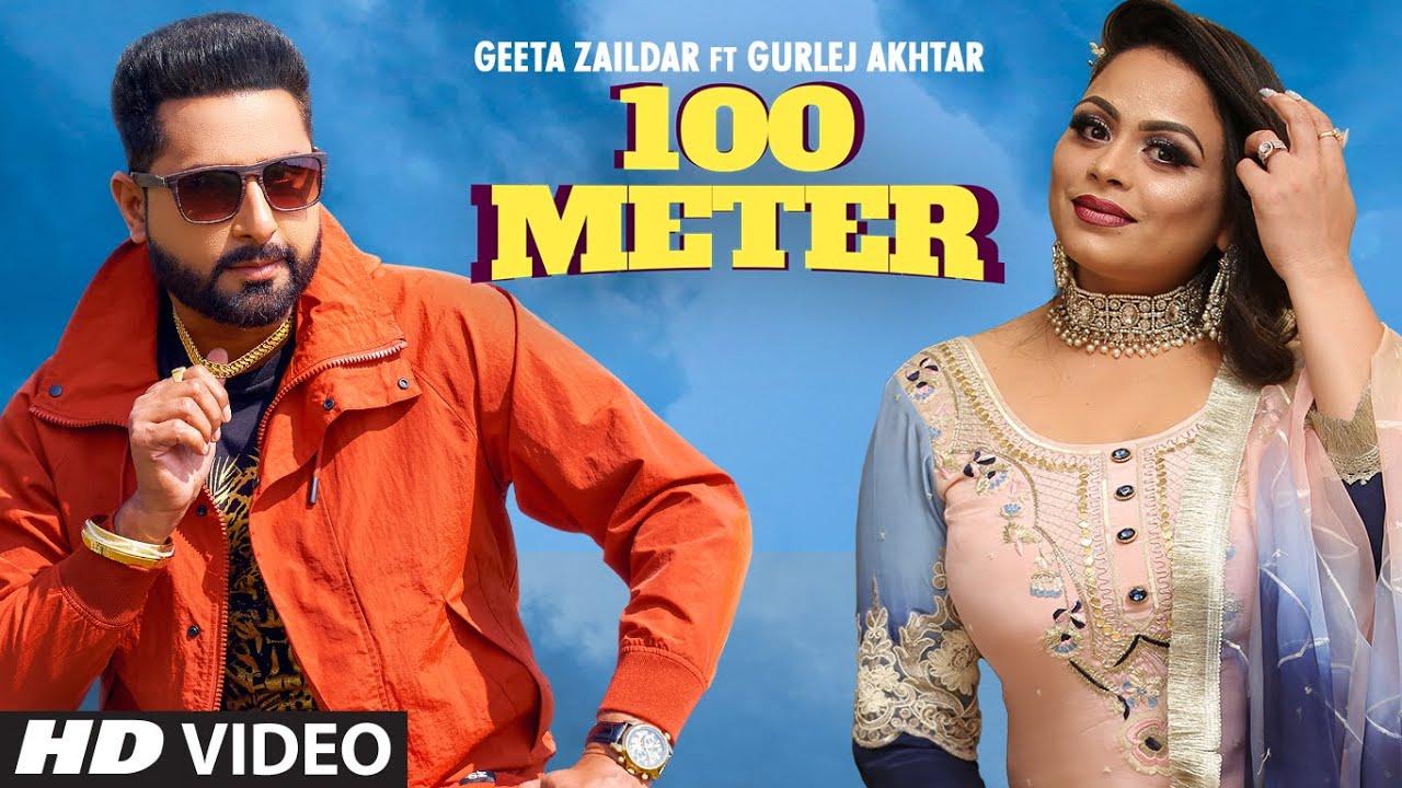 100 Meter Lyrics - Geeta Zaildar Full Song Lyrics  | Gurlej Akhtar | Lyricworld