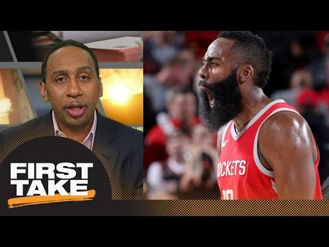 Stephen A.: James Harden is 'head and shoulders above' LeBron James for MVP   First Take   ESPN