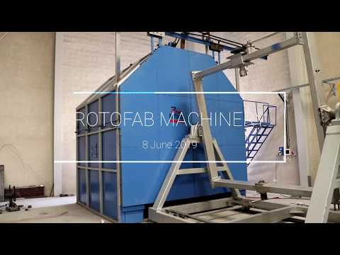 Single Station Bi-axial Rotomoulding Machine