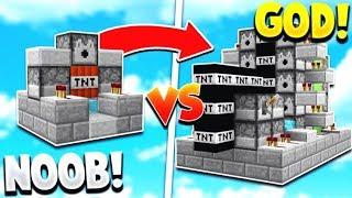 TNT WARS GOD Vs TNT WARS NOOB   Minecraft Modded TNT WARS