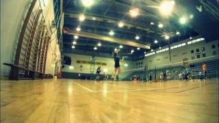 preview picture of video 'Maccabi Rishon LeZion practice  - אימון בדמינטון מכבי ראשון לציון'
