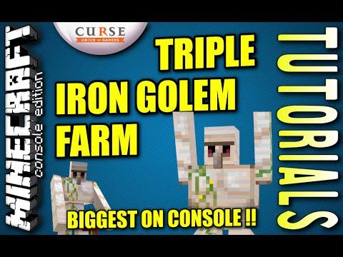 Download Minecraft Automatic Iron Golem Farm Tutorial Ps4 Pe Video